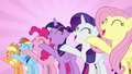 "Mane Six sing together ""we're not flawless"" S7E14.png"