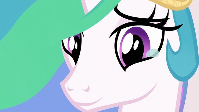 File:Princess Celestia smiling tearfully at Luna S7E10.png