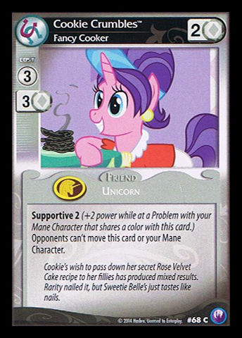 File:Cookie Crumbles, Fancy Cooker card MLP CCG.jpg