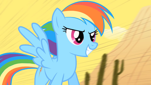 File:Rainbow Dash on the train S01E21.png