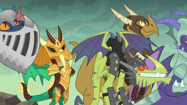 File:Dragons in armor listen to Torch S6E5.png