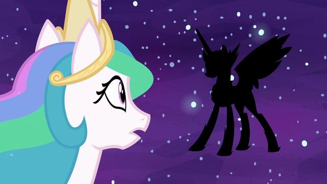 File:Princess Celestia looks at Daybreaker's silhouette S7E10.png