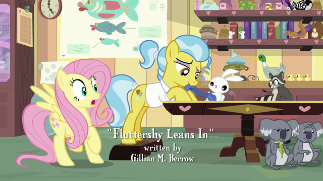 File:Fluttershy notices Smoky Jr. on runaway chair S7E5.png
