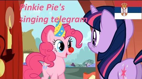 Pinkie Pie's Singing Telegram Serbian MINI ULTRA