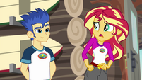 "Sunset Shimmer confused ""for what?"" EG4"