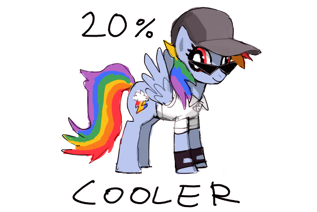 File:FANMADE Rainbow Dash 20 percent cooler clothes.png