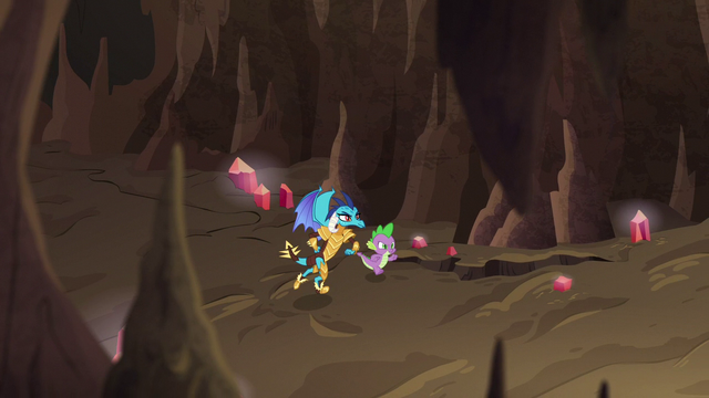 File:Spike and Ember run through the flame-cano S6E5.png