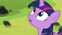 Twilight looking up at Tirek S4E26