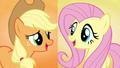 "Applejack and Fluttershy sing ""and we'll make"" S5E3.png"