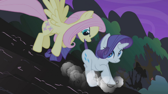 Fluttershy rescues Rarity S1E02