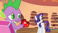 Rarity tries to avoid looking at the gem S2E10.png