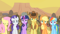 Camera pans as Spike praises Pinkie's song S1E21
