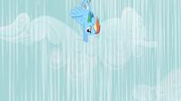 Rainbow Dash flying down S2E08