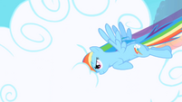 Rainbow Dash punching through clouds S1 Opening