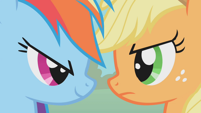 File:Rainbow Dash vs Applejack S1E13.png