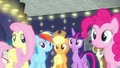 Rarity's friends happy for her S6E9.png