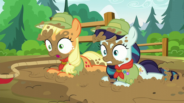 File:Applejack and Rara all muddy S5E24.png