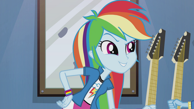 "File:Rainbow Dash ""let's see who plays best!"" EG2.png"