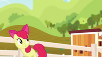 Apple Bloom watching Pinkie twirl S4E09