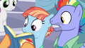 Bow and Windy look closely at Scootaloo's scrapbook S7E7.png