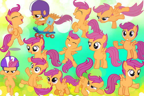 File:FANMADE Scootaloo wallpaper.png