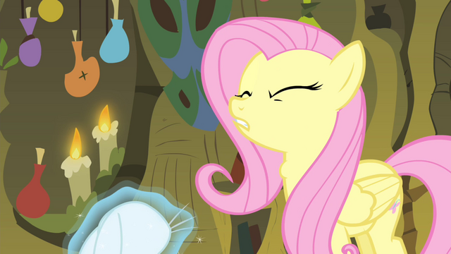File:Fluttershy gulping S4E14.png