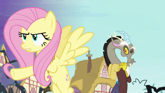 File:Fluttershy sticks up for Discord S4E01.png