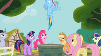 Rainbow Dash emerges from Well S2E8