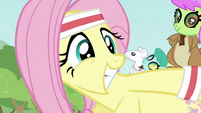 Fluttershy smiling S2E22