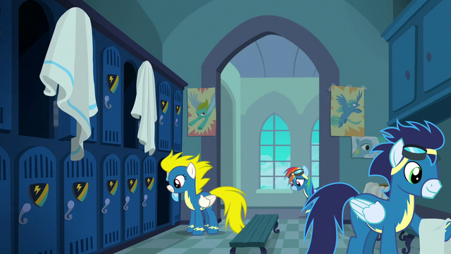 File:Rainbow enters the locker room S6E7.png