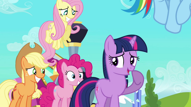 File:Twilight and friends smiling nervously S03E12.png