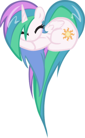 File:FANMADE Celestia heart pony.png