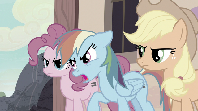 "File:Rainbow ""but we're going to get our cutie marks back!"" S5E02.png"
