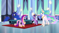 "Celestia ""just now gained enough strength"" S4E25"