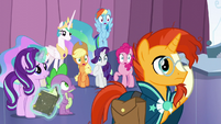 Rainbow, AJ, Rarity, and Fluttershy shocked S6E2