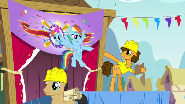 File:Rainbow and Cheese pointing at each other S4E12.png