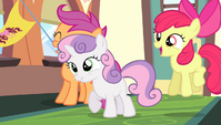 Cutie Mark Crusaders cheering S4E24