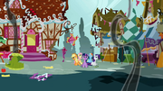 Ponyville in ruins S1E10