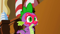 Spike has frosting in his face S2E03