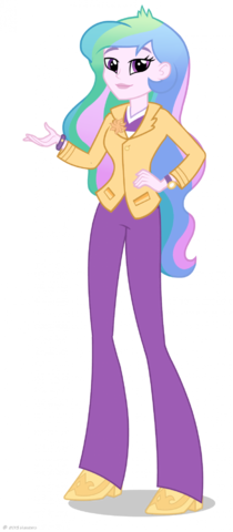 File:Equestria Girls Principal Celestia artwork.png