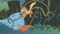 Applejack shoves bridle onto Rainbow Dash S1E09.png