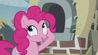 Pinkie getting baking powder from her mane S5E8