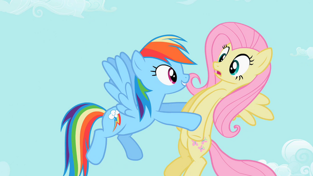 File:Rainbow Dash and Fluttershy S2E07.png