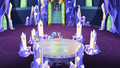 Spike, Trixie and Starlight in the throne room S7E2.png
