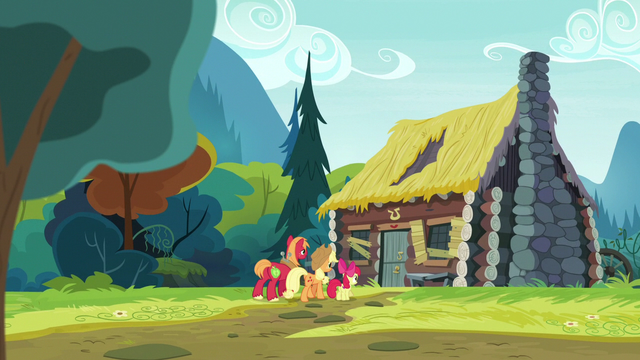 File:Apple siblings walking to Goldie Delicious' house S7E13.png