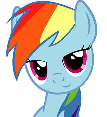 File:FANMADE Rainbow Dash looks at the audience.png