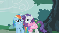 Rarity forgiving Rainbow Dash S01E14