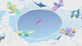 Pegasi pushing clouds over the lake S1E11.png
