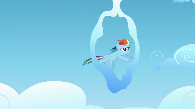 File:Rainbow Dash flies to a cloud ring S5E26.png