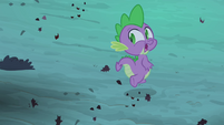 Spike running from Flutterbat S4E07